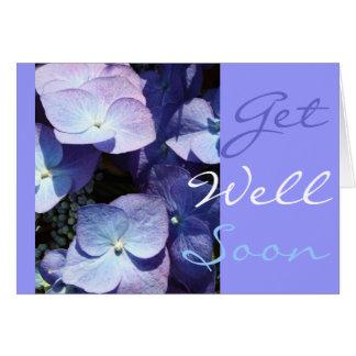 Hydangea violeta tarjeta de felicitación