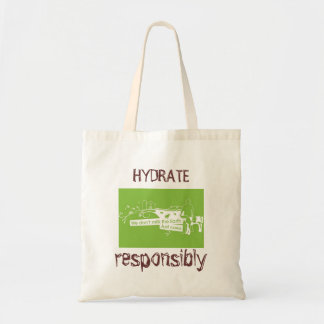 Hydate Responsibly - Organic Grocery Tote Bag