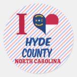 Hyde County, North Carolina Round Stickers