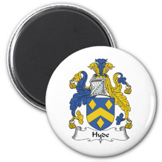 Hyde Family Crest 2 Inch Round Magnet