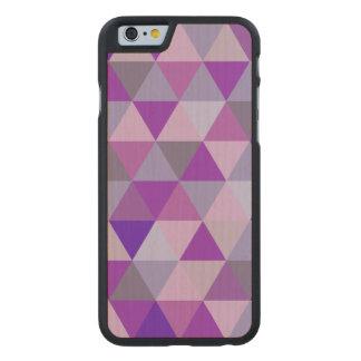 Hyde geométrico/azul de PixDezines Funda De iPhone 6 Carved® De Arce