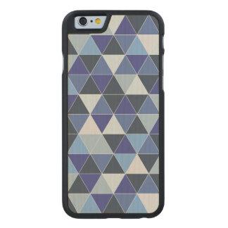 Hyde geométrico/azul de PixDezines Funda De iPhone 6 Carved® Slim De Arce