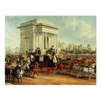 Hyde Park Corner, after James Pollard Postcard