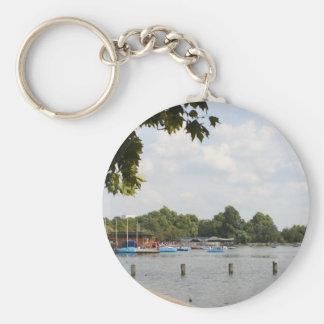 Hyde Park, London Basic Round Button Keychain