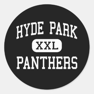 Hyde Park - Panthers - Junior - Las Vegas Nevada Round Sticker