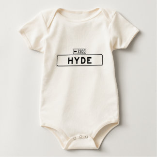 Hyde St., San Francisco Street Sign Baby Bodysuit
