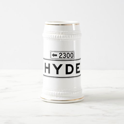 Hyde St., San Francisco Street Sign Coffee Mugs