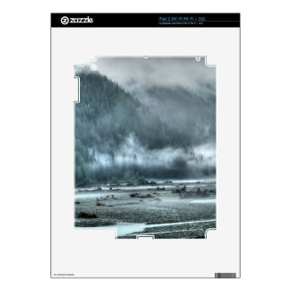 Hyder, Alaska Misty River & Forest Scene Decal For The iPad 2