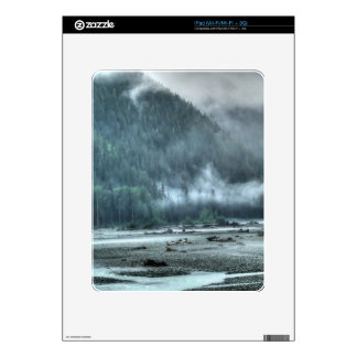 Hyder, Alaska Misty River & Forest Scene Decals For The iPad