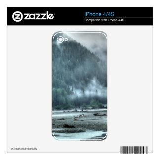 Hyder, Alaska Misty River & Forests Nature Scene iPhone 4 Skins