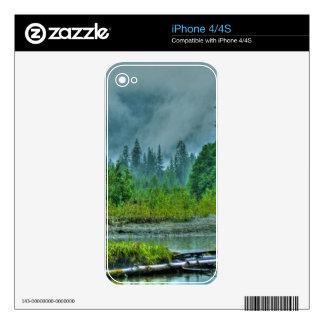 Hyder, Alaska Misty River & Forests Nature Scene iPhone 4S Skin