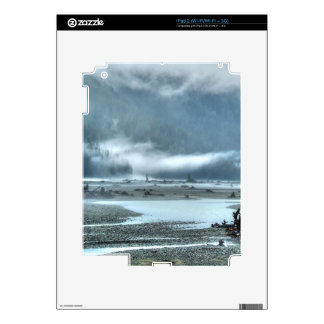 Hyder, Alaska Misty River & Forests Nature Scene Decal For The iPad 2