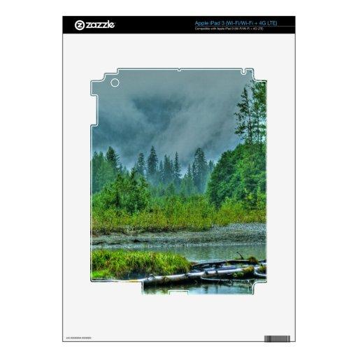 Hyder, Alaska Misty River & Forests Nature Scene iPad 3 Skin