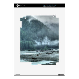 Hyder, Alaska Misty River & Forests Nature Scene Skin For The iPad 2