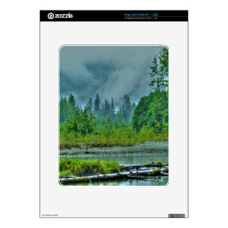 Hyder, Alaska Misty River & Forests Nature Scene Decal For iPad