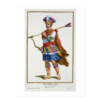 Hyder Ali (1722-82) from 'Receuil des Estampes, re Postcard