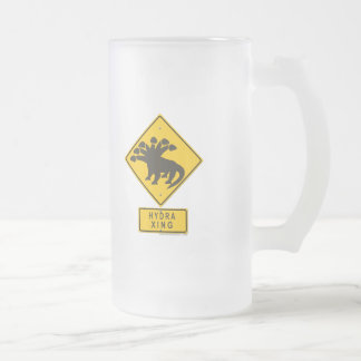 Hydra XING Frosted Glass Beer Mug
