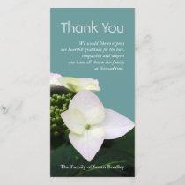 Hydrangea 1 Custom Sympathy Thank You Photo Card