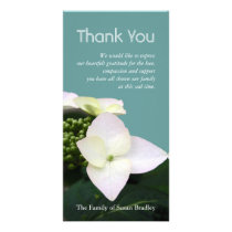 Hydrangea 1 Custom Sympathy Thank You Photo Card