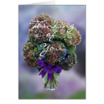 Hydrangea 2385 in Vase- customize any occasion Greeting Card