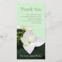 Hydrangea 2 Custom Sympathy Thank You Photo Card