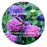 Hydrangea 4511 Clock- customize or personalize