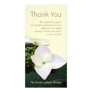 Hydrangea #5 Custom Sympathy Thank You Photo Card