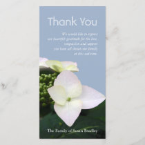 Hydrangea 7 Custom Sympathy Thank You Photo Card