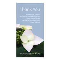 Hydrangea 7 Custom Sympathy Thank You Photo Card
