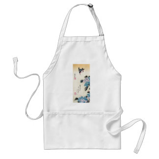 Hydrangea and Kingfisher, Ando Hiroshige Adult Apron