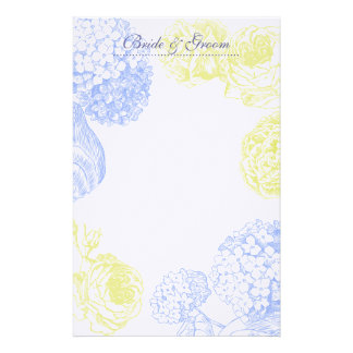 Hydrangea and Roses Wedding Stationery