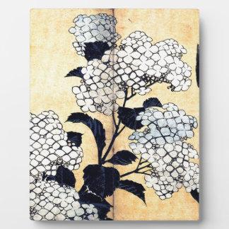 Hydrangea and Swallow by Katsushika Hokusai Display Plaques