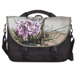 Hydrangea and Wood Vase Watercolor Commuter Bag