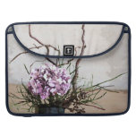 Hydrangea and Wood Vase Watercolor Sleeve For MacBooks