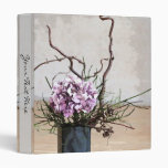 Hydrangea and Wood Vase Watercolor Vinyl Binders