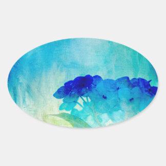 Hydrangea Art Oval Sticker
