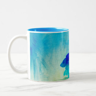 Hydrangea Art Two-Tone Coffee Mug