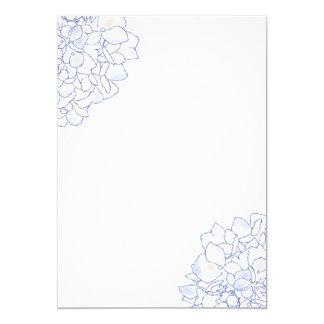 Hydrangea Art White Wedding Program Paper 5x7 Paper Invitation Card