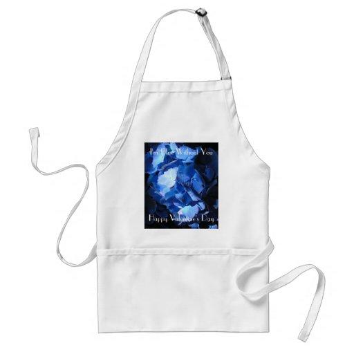 Hydrangea azul: Azul sin usted - delantal