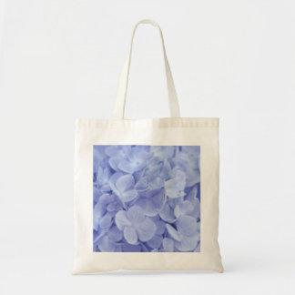 Hydrangea azul bolsa de mano