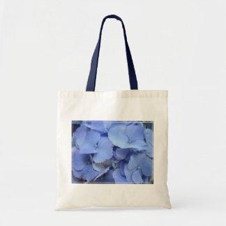 Hydrangea azul bonito bolsas de mano