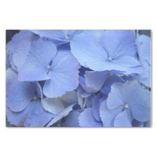 Hydrangea azul bonito papel de seda pequeño