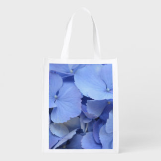 Hydrangea azul bonito bolsas reutilizables