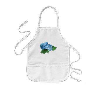 Hydrangea azul claro delantal infantil