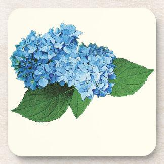 Hydrangea azul claro posavasos de bebida
