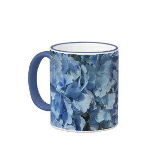 Hydrangea azul de la flor taza a dos colores
