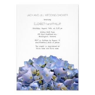"""Hydrangea azul Jack y ducha del boda de Jill Invitación 4.5"""" X 6.25"""""""