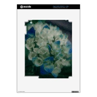 Hydrangea azul pintado calcomanía para iPad 2