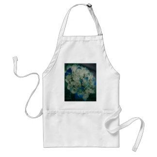 Hydrangea azul pintado delantal