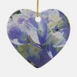 Hydrangea azul púrpura ornamento de navidad
